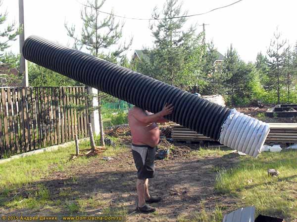 Дренаж из пластиковых труб своими руками