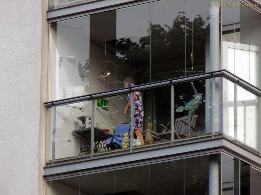 Дизайн балкона застекленного