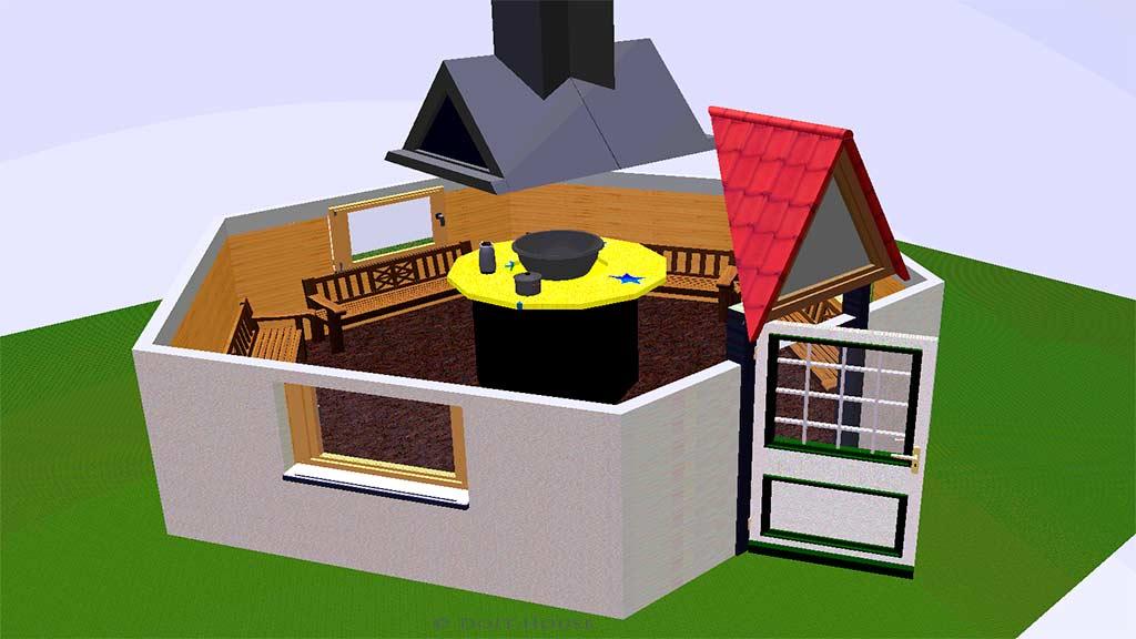 схема гриль домика
