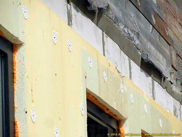 Утепление стен из пеноблока пеноплексом своими руками 8