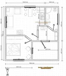 планировка садового дома из бытовки