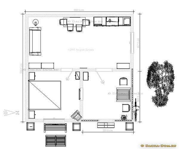 план дома из бытовки
