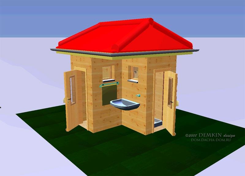 Построить туалет и душ на даче своими руками фото