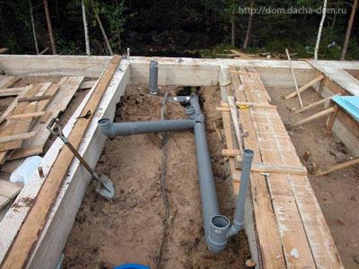 Схема канализация в частном доме своими руками