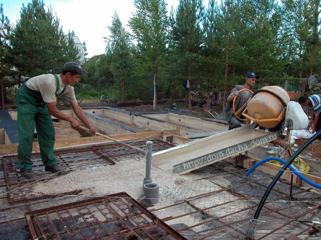 Пол по грунту Устройство бетонного пола по грунту