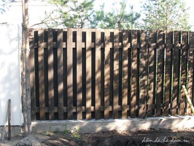 Деревянный двустронний забор