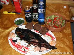 smoked fish with vodka