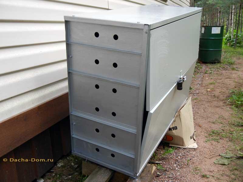 Уличный шкаф для газового баллона своими руками