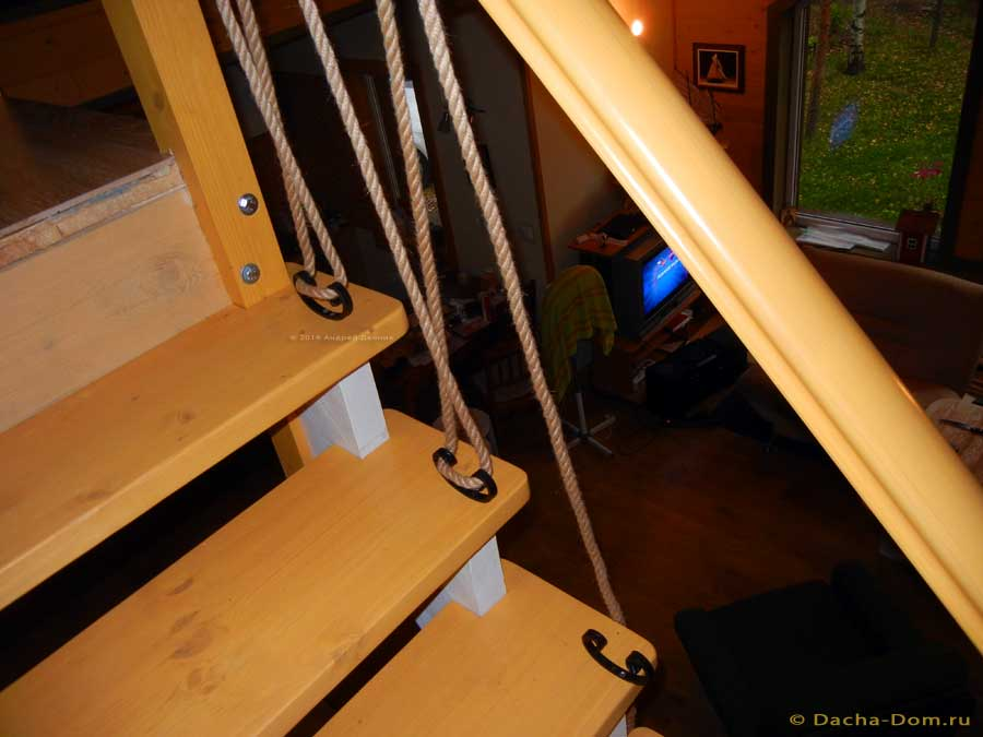 Лестница своими руками из каната