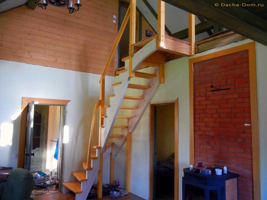 Лестница на 2этаж своими руками 688