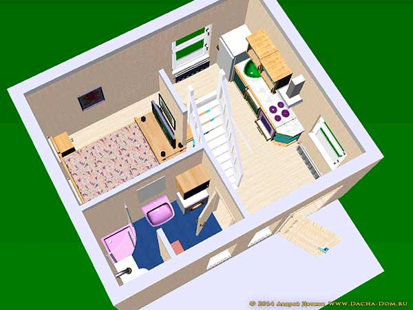 250 square foot apartment floor plan