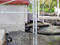 гидроизоляция фундамента на склоне
