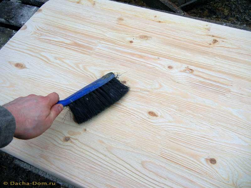 Как сделать состаренную мебель дерево