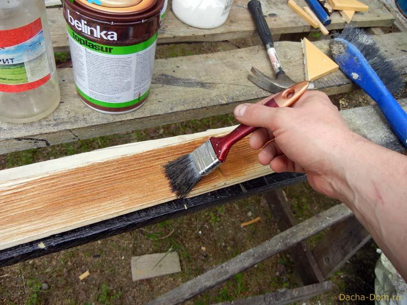 Лессировка древесины своими руками 5