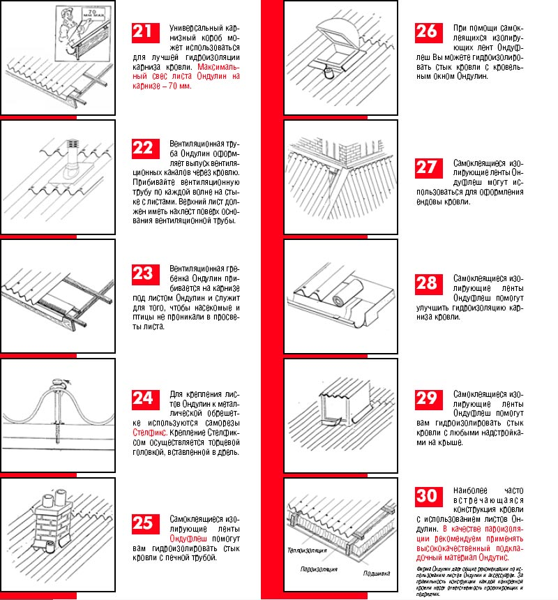 ондулин черепица инструкция по монтажу - фото 10