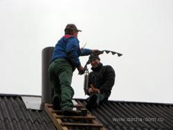 монтаж дымохода из стали