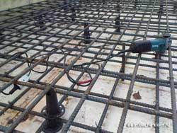 вязка арматурного каркаса фундамента плиты