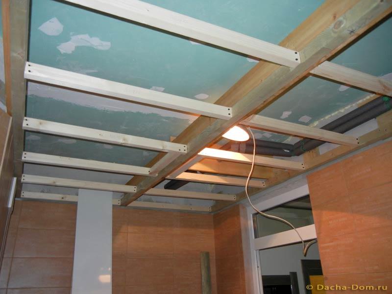 Как сделать обрешетку для подвесного потолка