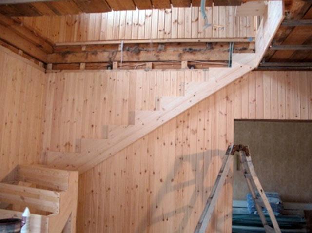 Строительство лестницы своими руками фото