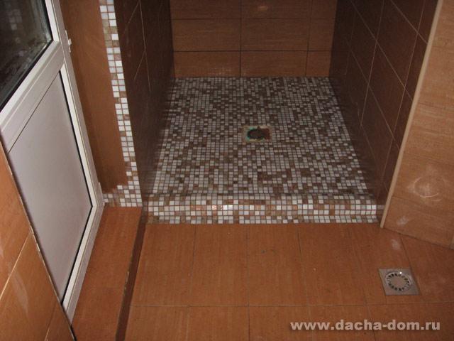 Как сделать душевую кабину из мозаики
