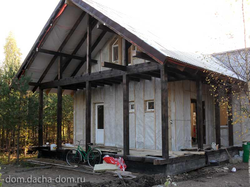 Цена работ по утеплению фасада дома