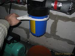 слив воды из фильтра
