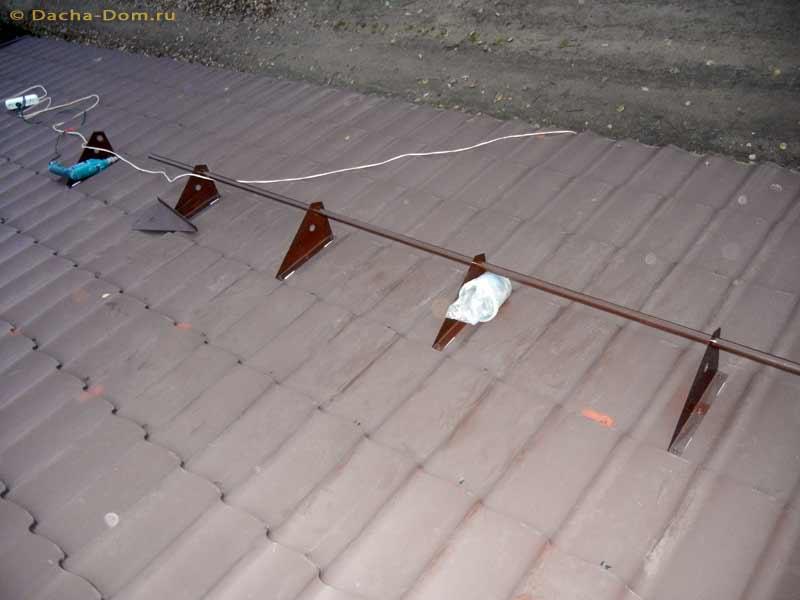 Как очистить снег на крыше