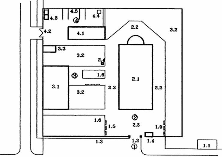 планировка церкви