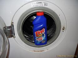 Если предыдущая манипуляция со стиральной машиной не решила проблему полностью или частично, берем Тирет гель и...