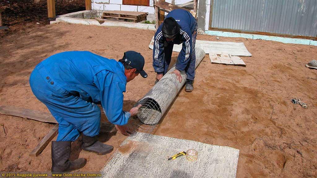 Сваи из бетона своими руками 44