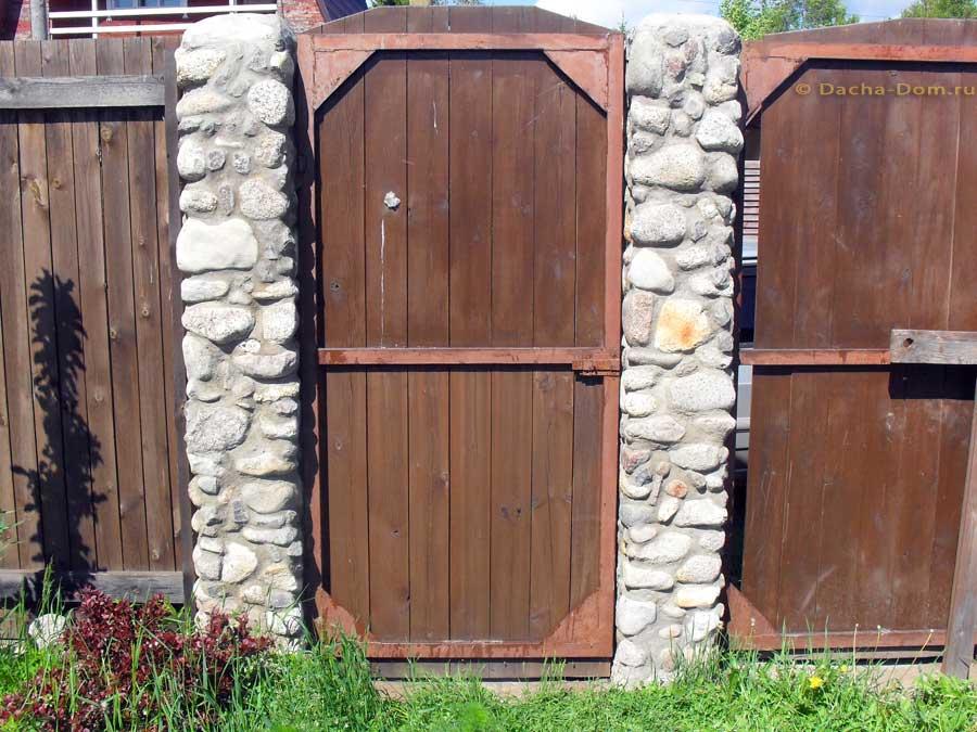 Ворота и калитки для дачи фото своими руками 35