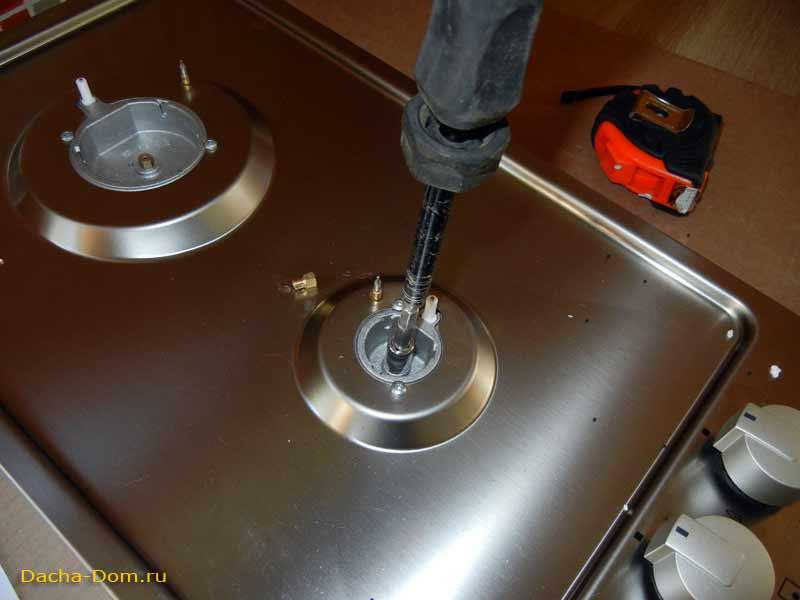 установка газовой поверхности